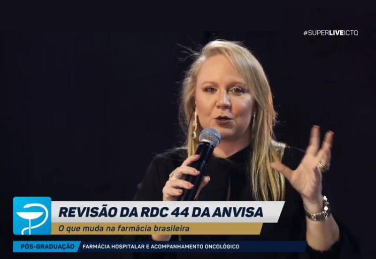Luciana Calil participa da superlive do ICTQ sobre a revisão da RDC 44